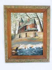 "Original Oil Painting-Roman Church in Czechoslovakia-J. Lehman-20.5 X 17.5"""