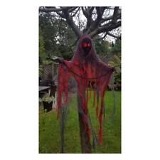 Colgante Malla con Caras Demonio Esqueleto Rojo Iluminación Orificios Halloween