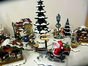 Hubrig,Winterkinder  Weihnachtsmann mit Schlitten
