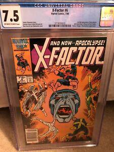 X-Factor 6 CGC 7.5 NEWSSTAND