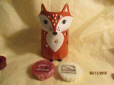 B/N Beautiful Ceramic Fox Tart Burner & Yankee Candle Wax Tarts/Melts