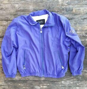 Vintage 91 KAELIN women's large vaporwave purple jacket