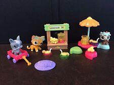 LPS Littlest Pet Shop Lemonade Stand # 855 856 857 Cat Ladybug Dog Complete Set