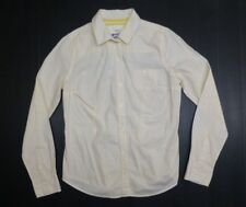 Mossimo Womens Size L Yellow White Button Down Shirt Excellent Condition