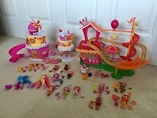 Huge Lot Mini Lalaloopsy Dolls Animals Musical Cake Playset, Silly Funhouse