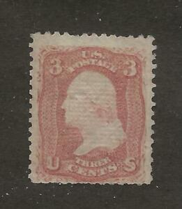 US Stamp #85C 1867 Rose 3 Cent Washington Z Grill Unused NG Faults Cert CV $9000