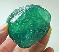 349Ct Natural Blue Fluorite Crystal Specimen Rough YVB190