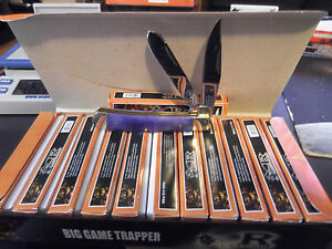 """4 1/4"""" .RENEGADE FULL SIZE TRAPPER GENUINE PURPLE BONE HANDLE & 440 STAINLESS ST"""
