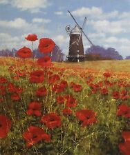 "MAKINSON ""Summer's Reward"" windmill poppies SGD LTD ED! SIZE:41cm x 35cm NEW"