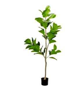XL ARTIFICIAL FIDDLE LEAF FIG TREE PLANT POTTED ARTIFICIAL FAKE FLORAL 150cm