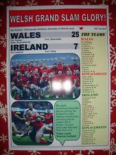 Wales 25 Ireland 7 - 2019 Six Nations - souvenir print