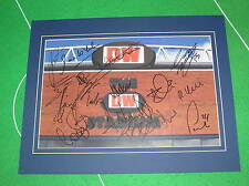 Wigan Athletic FC Mounted Stadium Photo Signed x 18 2014/15 1st Team Squad
