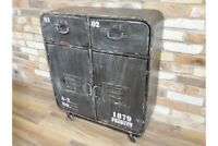 Industrial Style Rustic Metal Cabinet - Storage Unit / Small Sideboard - Retro