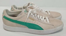 Puma suede leather White green flash sneakers US 12 EUR 46 Tennis Casual Shoes