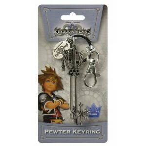 Kingdom Hearts Oathkeeper Keyblade Pewter Key Ring Keychain Official Licensed