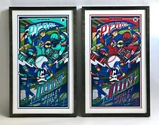 Pearl Jam, Wrigley Field - Klausen VARIANT & AP Custom Framed Poster Set, Signed