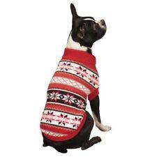 New Nordic Design Dog Sweater Chalet pink White Snowflake Zack & Zoey XLarge XL