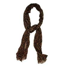 Women's Brown Black Leopard Print Scarf or Shawl