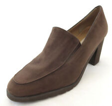 Andre Assous Heels 9.5 M Brown Suede Featherweight Career Slip On Shoes Spain