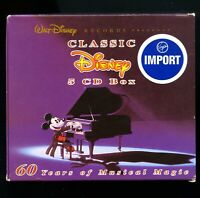 Classic Disney 60 Years of Musical Magic 5 CD box set 125 songs D89956 1999