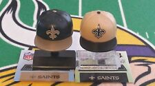 NFL Mad Lids Series 1&2 New Orleans Saints 2-pack (2 mini caps/stands/stickers)