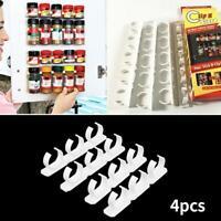 4Pcs Kitchen Clip Spice Gripper Jar Rack Storage Holder Wall Cabinet Door Hanger