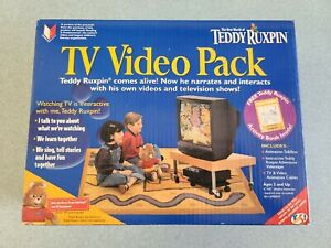 1998 Teddy Ruxpin TV VIDEO PACK Talk Box VHS Tape Coloring book YES! New Open