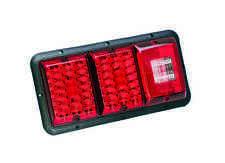 Bargman 84 85 Trailer RV Triple Tail Light Red & Red LED Incndscnt Backup BLACK