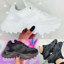 Womens Designer Chunky Trainers Sneakers Fashion Lace Up Sports Shoes New Size