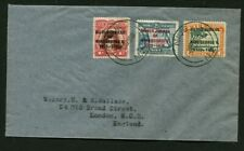1935 Silver Jubilee Niue set on cover to London