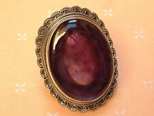 Extravaganter Amethyst Ring - 49 x 38 mm - Sterling Silber - 925 - Imposant ! 60