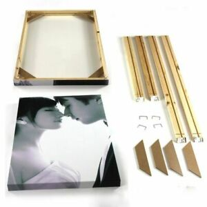 Wall Canvas Frame Natural Wood Oil Painting DIY Picture Poster Photo Square Kits