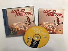 SEGA DREAMCAST GAME WILD METAL +BOX & INSTRUCTIONS COMPLETE PAL GWO