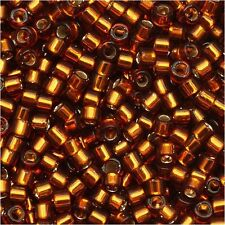 11/0 2mm Amber AB Silver Lined Glass Seed Beads 50g(sd-101)