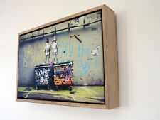 BANKSY STYLE CANVAS STREET ART by andy baker PRINT READY TO HANG