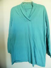 Roaman's Sz L Long Sleeve Shawl Collar Tunic