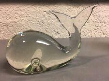 Lucio Zanetti Italian Murano Glass Whale Paperweight Figurine - Signed