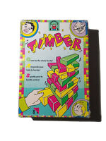 COMPLETE Vintage 1991 TIMBER Game Colored Wood Stacking Blocks by Discovery Toys