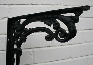 Metal Cast Wall / Shelf Bracket Victorian/ Art Nouveau design Matt Finish