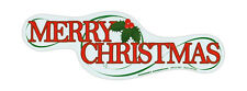 Magnetic Bumper Sticker - Merry Christmas Magnet - Die Cut Magnet