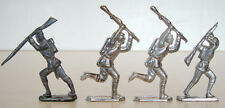 Set of 4 WW1 WW2 MILITARY Unpainted CASTINGS Pewter Lead Metal TOY SOLDIER