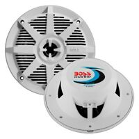 "3.5/"" Houseboat Marine Speakers.w// mounts.Indoor outdoor.Party boat.White 2 NEW"