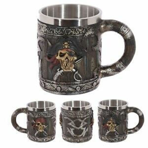 Decorative Pirate Tankard  Resin and Stainless Steel
