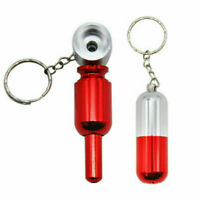 1 PCS Detachable Portable Metal Smoking Pipe Simple Key Chain Tobacco Herb Pipes