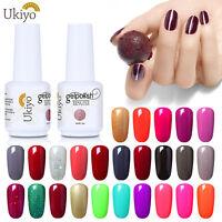 DIY Manicure Colour Nail Gel Polish Ukiyo Top Base UV LED Soak Off Lacquer 15ml
