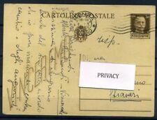 Italia Regno 1942 Intero postale 100% Cartolina Postale- Vinceremo