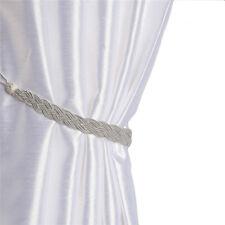 1 Pair Of Braided Satin Rope Curtain Tie Backs -Tiebacks Holdbacks Curtain Decor