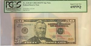 2004 $50 Star Fifty Dollar Federal Reserve Note PCGS 69PPQ Superb Gem New