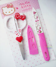 New Cute Hello Kitty Kitchen Stainless Steel Scissors & Vegetable Cutter Knife