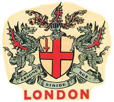 London England UK  Vintage Looking Travel Decal Luggage Label Sticker